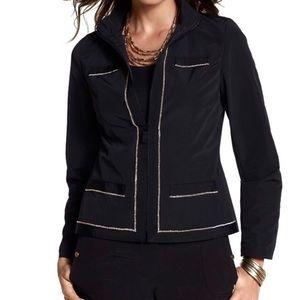 CHICO'S 2 Zenergy Gold Chain Black Jacket Large